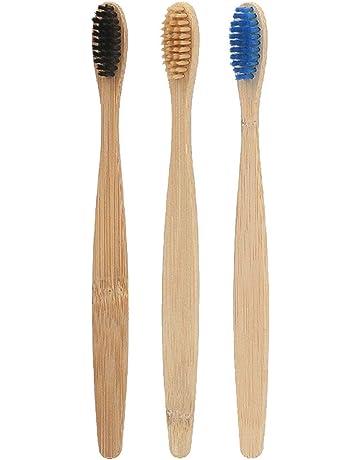 SUPVOX 3pcs Cepillos de dientes de bambú con cerdas suaves natural ecológico vegano biodegradable reciclable(