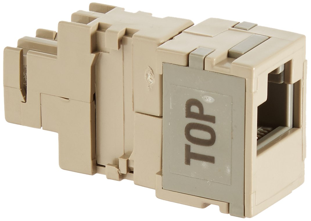 Leviton 40072-T2 2-Position Modular Adapter, Converts Two 66-Clip