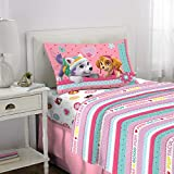 Nickelodeon Paw Patrol Kids Bedding Soft Microfiber Sheet Set, 3 Piece Twin Size, Pink/White Girls Design