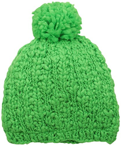 FU-R Men's Darcy Fleece Lined Hand Knit Slouchy Pom Hat, Flo Green, One Size (Irresistible Womens Turtle)