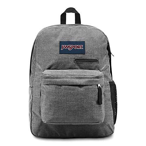 JanSport Digibreak Laptop Backpack - Gray Heathered 600D (Gray Jansport Backpacks For Boys)
