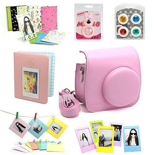 Fujifilm Instax Mini 8 Kamera Zubehör Sets (Included: Instax Mini 8 Kameratasche Gehäuse Taschen/Nahlinse Mit Spiegel/Dekorative Aufkleber Für Filme/Dekorative Fotorahmen)