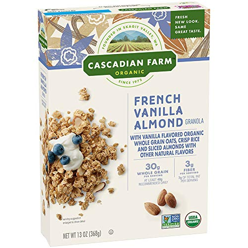 Cascadian Farm Organic Granola Cereal - French Vanilla Almond - 13 OZ