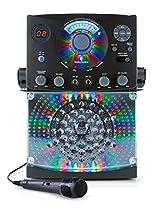 Singing Machine SML385BTBK Top Loading CDG Karaoke System with Sound and Disco Light Show (Black)