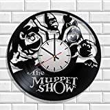 Wall clock The Muppet Show made from real vinyl, The Muppet Show wall poster