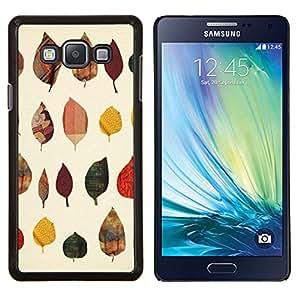 YiPhone /// Prima de resorte delgada de la cubierta del caso de Shell Armor - Patrón de otoño Arte Naturaleza Amarillo - Samsung Galaxy A7 A7000