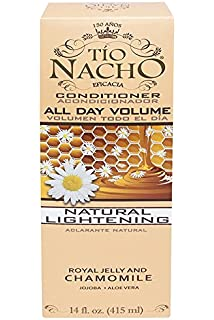 tio nacho all day volume natural lightening conditioner 14 oz with natural extracts royal jelly and