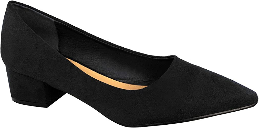 Fashion Thirsty Womens Mid Heel Court Shoes Work Office Formal Wedding Size