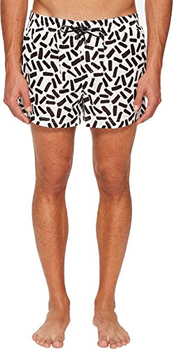 Dolce & Gabbana Men's Abstract Short Boxer Swimsuit w/Bag White Abstract Print 6