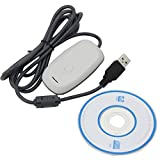 ESUMIC USB Wireless Gaming Receiver Adapter PC Adapter for Xbox 360 Controller Consoles adaptor White