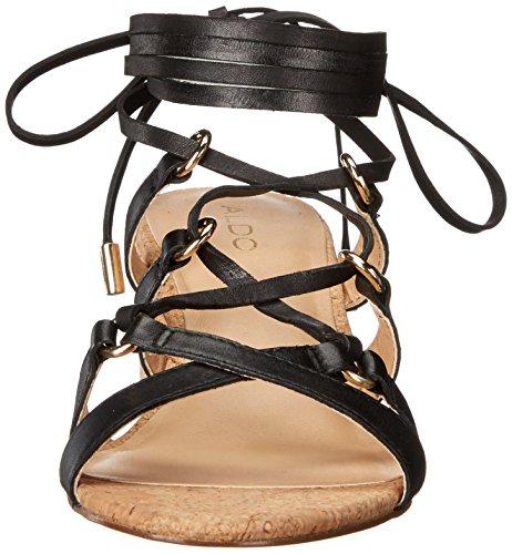 Women's Leather Sandal Dress Aldo Pomeo Black fZTdXw