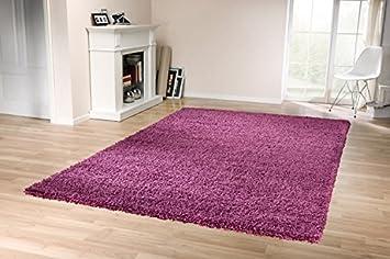 Teppich lila  Tara Shaggy Teppich (Lila Violett, 120x170cm): Amazon.de: Küche ...
