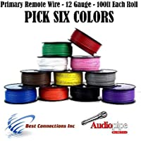 12 GA PRIMARY POWER GROUND WIRE (6) 100FT ROLLS BOAT CAR 12- 80 VOLT MULTI COLOR