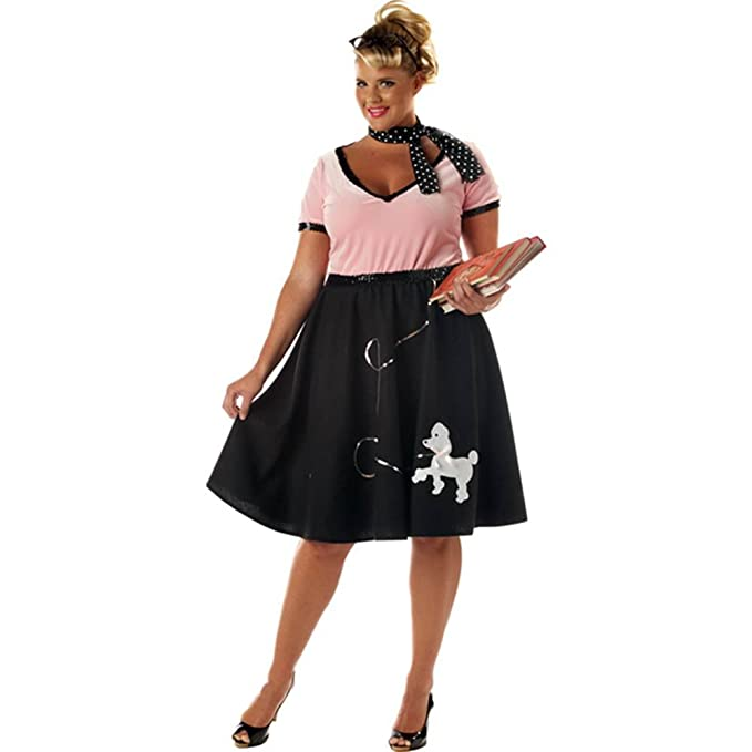 1950s Costumes- Poodle Skirts, Grease, Monroe, Pin Up, I Love Lucy 50s Sweetheart Plus Size Costume $26.99 AT vintagedancer.com
