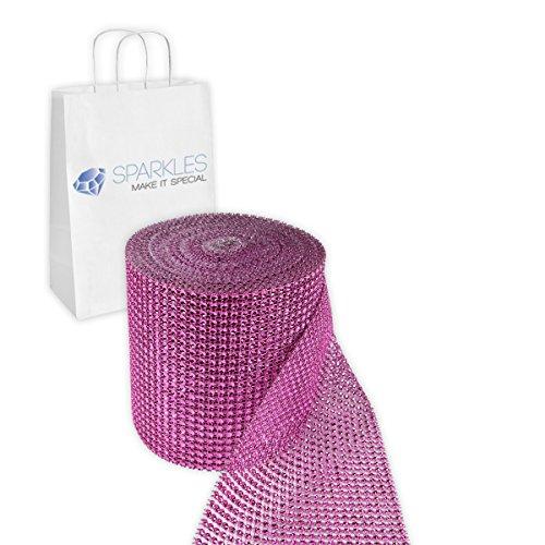 cial 24 Row Diamond Rhinestone Mesh Ribbon Trim Wrap - 4.5