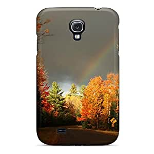 TRamUSa3353FEXTN Tpu Phone Case With Fashionable Look For Galaxy S4 - Autumn Free Autumn Road 82