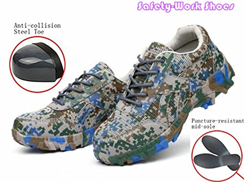 Price comparison product image GUDUN Breathable Men Steel Toe boots Hiking Boots Safety Work Steel toe Shoes(Size Chart in Last Photo) (43,  GDB007)