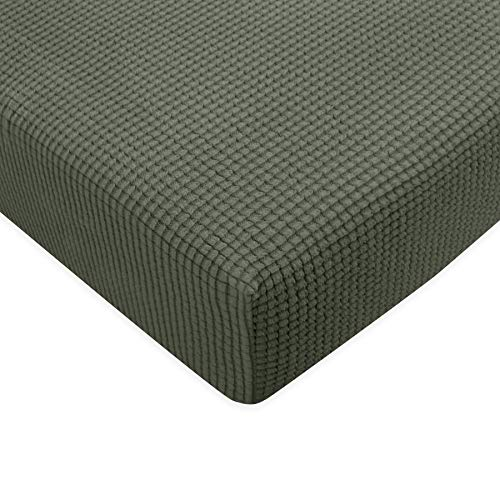 Subrtex Spandex Elastic Couch Cushion Covers Stretch Chair Slipcover Furniture Protector for Sofa Seat Cushion (Chair Cushion, Olive Drab)