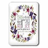 3dRose TNMGraphics Scripture - Psalm 118 Floral Wreath This is the Day the Lord Has Made - Light Switch Covers - single toggle switch (lsp_286314_1)