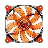 COUGAR 12CM Red LED Hydraulic (Liquid) Bearing Ultra Silent Fan 1200RPM 64.4CFM 16.6dBA # Cougar CFD12HBR