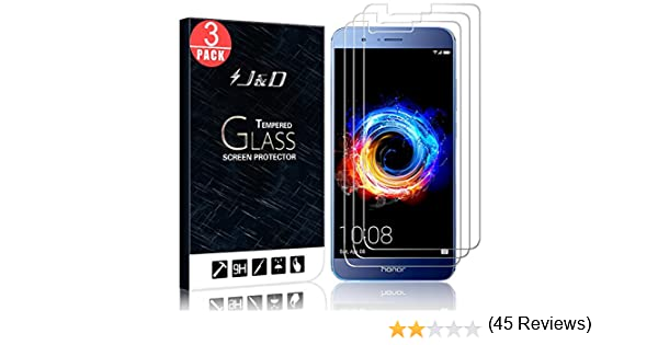 J&D Compatible para 3-Pack Huawei Honor 8 Pro/Honor V9 Protector ...