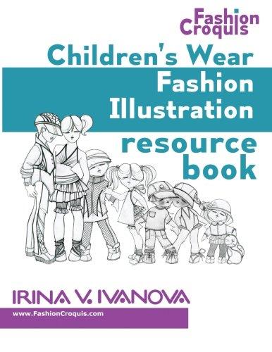 (Children's wear fashion illustration resource book: children's figure drawing templates with fashion design sketches (Fashion croquis) (Volume 1))