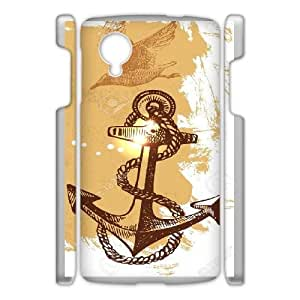 Google Nexus 5 phone Case Navy Stripes Anchor Protective Cell Phone Cases Cover DFG152061