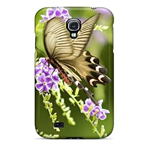 Excellent Cell-phone Hard Cover For Samsung Galaxy S4 With Support Your Personal Customized Beautiful Butterfly Image JamieBratt