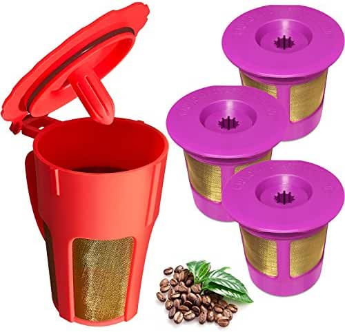 K-Carafe Reusable Coffee Filter and 3 Reusable K-Cup for Keurig 2.0, K200, K250, K300, K350, K400, K450, K460, K500, K550, K560