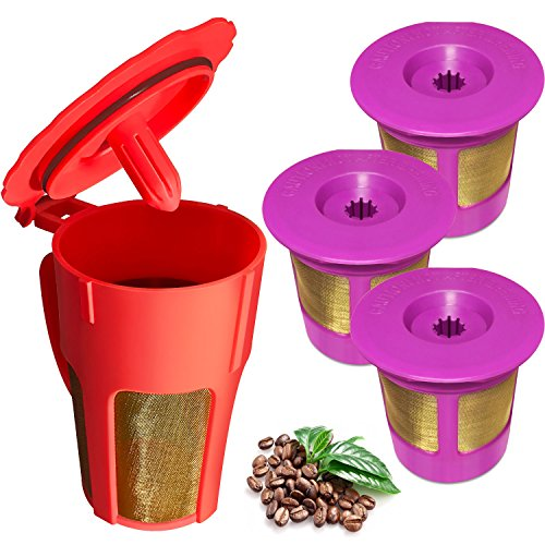 K-Carafe Reusable Coffee Filter and 3 Reusable K-Cup for Keurig 2.0, K200, K250, K300, K350, K400, K450, K460, K500, K550, K560 (K Cup And K Carafe Holder compare prices)