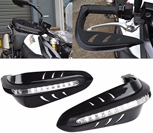 X AUTOHAUX Fluorescent Yellow Universal Motorcycle Handguard Handbar Protector