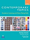 img - for Contemporary Topics Intro: Academic Listening and Note-Taking Skills by Jeanette Clement (2009-01-16) book / textbook / text book