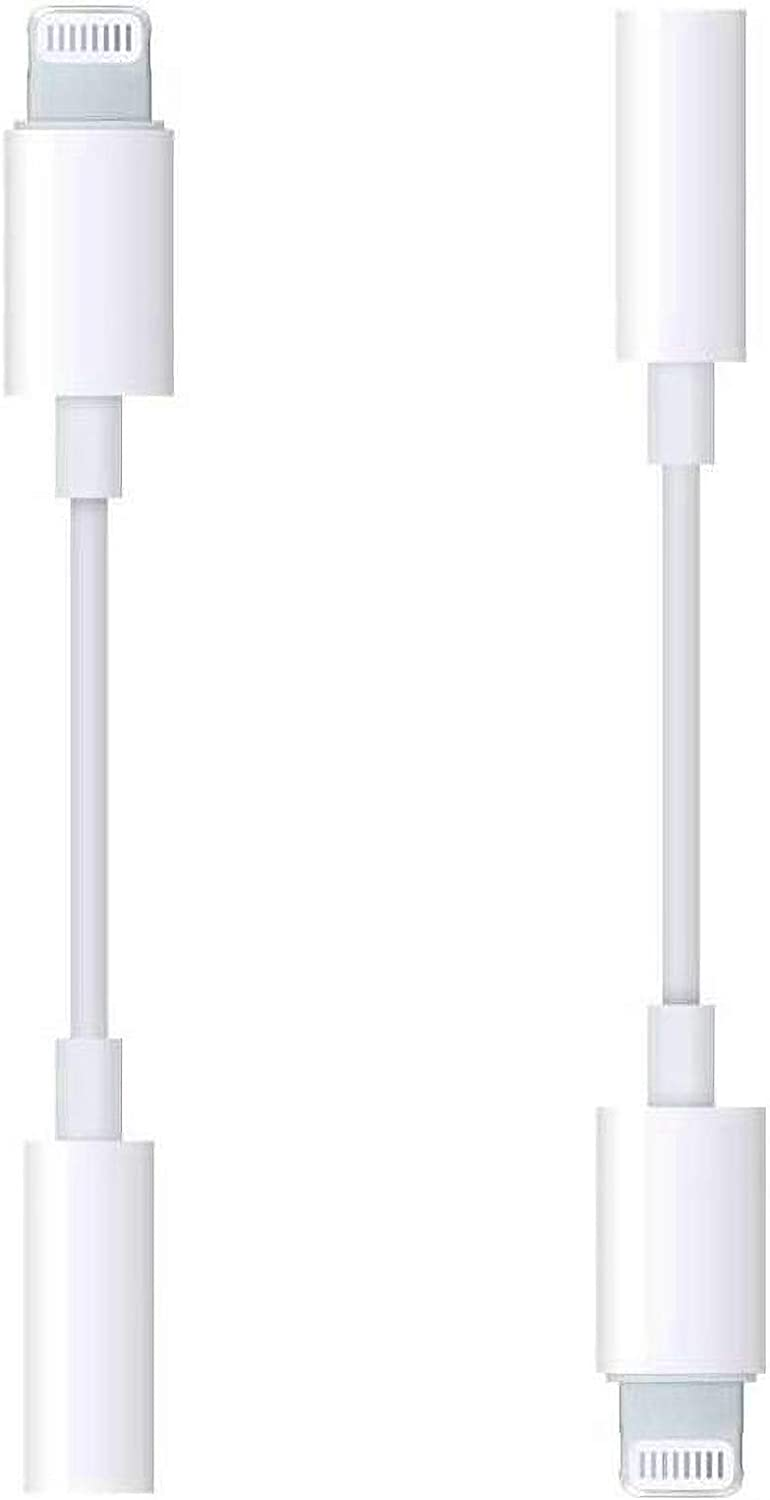 3.5mm Headphones Adapter for iPhone 12, 2 Pack Apple MFi Certified DESOFICON Lightning to 3.5 mm Headphone Jack Converter Audio Aux Adapter Dongle for iPhone 12 11 SE XR XS X 8 7 iPad, Support All iOS