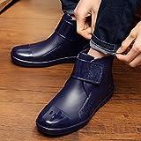 Fashiontown Mens Hook and Loop Rain Boots