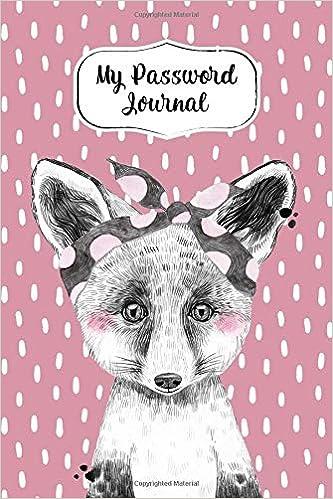My Password Journal Password Keeper Book Cute Fox Cover