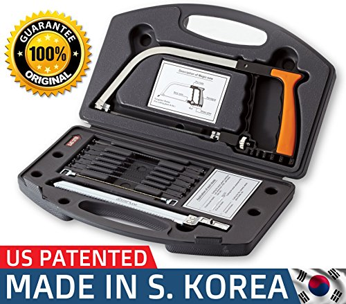 Original 15-in-1 Magic Universal Hand Saw Kit Toolbox Of Multi Blades Set Works As Hacksaw Coping Bow Jab Rip Pruning Chain Handsaws A Cutter Suitable To Cut Wood PVC Pipes Glass Water Bottles Tiles (Combination Bench Grinder)
