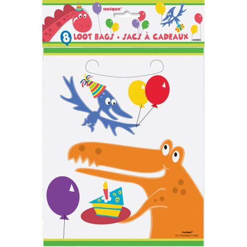 Access Dinosaur Party Favor Bags, 8ct compare