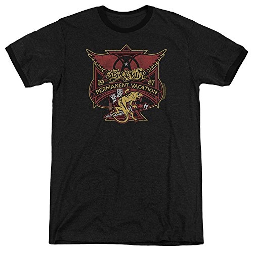 negro color para permanente Aerosmith de Camiseta hombres xvq1t4TAEw