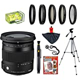 Sigma 17-70mm F2.8-4 DC OS HSM Contemporary Lens with UV, CPL, FLD, ND4,+10 Macro Filters and Bundle for Nikon D7100, D7000, D5300, D5200, D5100, D3300, D3200 and D3100 Digital SLR Cameras