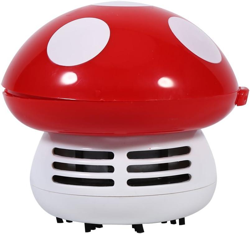Miniaspirador para escritorio y teclado en forma de seta rojo: Amazon.es: Hogar