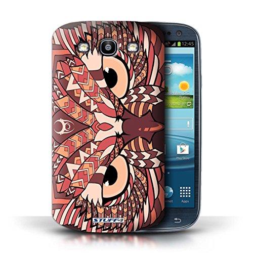 Coque de Stuff4 / Coque pour Samsung Galaxy S3/SIII / Hibou-Rouge Design / Motif Animaux Aztec Collection