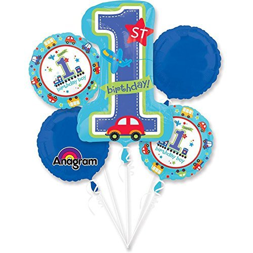 All Aboard 1st Birthday Balloon Bouquet (Each) - Party Supplies -