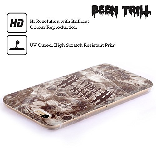 Official Been Trill Sepia Floral And Skulls Soft Gel Case for Apple iPhone 4 / 4S