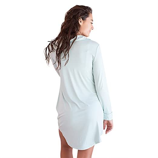 Faceplant Dreams Dreamwear Bamboo Boyfriend Nightshirt at Amazon Women s  Clothing store  dd1a9704f