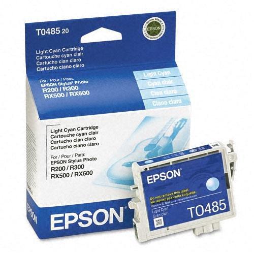 Epson T0485 Cyan Ink Cartridge - Inkjet - 430 Page - Light Cyan - 1 (Catalog Category: SUPPLIES- PRINTER)