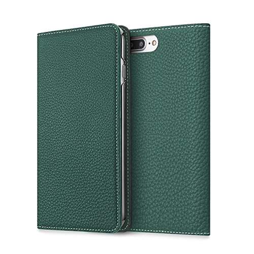 - BONAVENTURA Diary Leather Wallet iPhone Case [Compatible with iPhone 8/7 Plus, Malachite Green]
