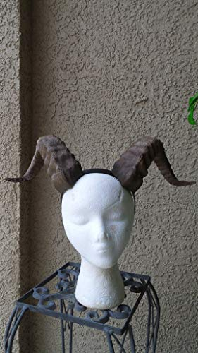 Mud and Majesty Professional 3D print Beast horns Grand Costume Cosplay ULTRA LIGHT WEIGHT Curled Beastly fur suit Hornsed Ram horns lightweight cosplay headdress Ram horned headband, dragon horns