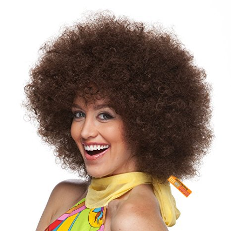 United States of Oh My Gosh Afro Costume Wig - Bring The Party Hair Out - LMFAO (Brown)