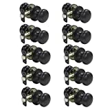 Probrico 10 Pcs Interior Door Knob Handles Oil Rubbed Bronze Passage Door Lockset for Hall or Closet, Stainless Steel