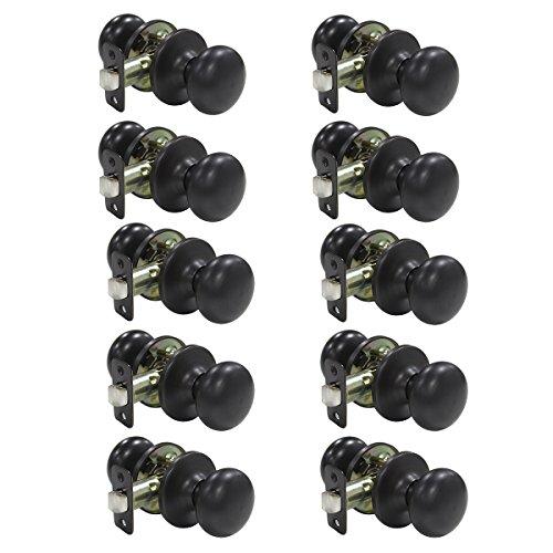 probrico-10-pcs-interior-door-knob-handles-oil-rubbed-bronze-passage-door-lockset-for-hall-or-closet